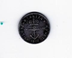 1/16 De Dollar Indes Britanniques De L'est 1822 TTB - Colonies