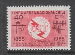 TIMBRE NEUF DU CHILI - CENTENAIRE DE L'UNION INTERNATIONALE DES TELECOMMUNICATIONS N° Y&T PA 222 - Télécom