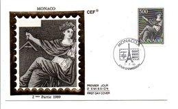MONACO FDC 1989 MONACO A PHILEXFRANCE89 - FDC