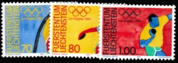 1984 LOS ANGELES OLYMPIC   MNH STAMPS  FROM LIECHTENSTEIN /SPORTS /SHOT PUT/DISCUSS/ POLE VAULT - Summer 1984: Los Angeles