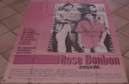 AFFICHE CINEMA ORIGINALE FILM ROSE BONBON Howard DEUTCH Molly RINGWALD Harry Dean STANTON 1986 TBE - Posters