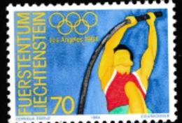 1984 LOS ANGELES OLYMPIC   MNH STAMP  FROM LIECHTENSTEIN /SPORTS /POLE VAULT - Summer 1984: Los Angeles