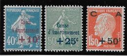 France N°246/248 - Neuf * Avec Charnière - TB - France