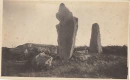 Photo Format Carte Postale Bretagne Locmariaquer Menhir Dolmen 1921 - Lieux