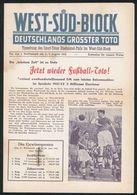 Fußball Lotto Sport Toto Original-Umschlag Vereinigte Fernwettstellen Rhein - Fussball