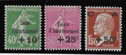 France N°253/255 - Neuf * Avec Charnière - TB - France