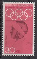 Germania 1968 Sc. B436 Helene Mayer Fencer Fioretto Argento Oimpiadi Berlino 1936 Nuovo MNH - Estate 1936: Berlino