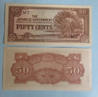 MALAYA JAPANESE OCCUPATION 50 CENTS 1942 WWII P-M4b - Malaysie