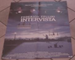 AFFICHE CINEMA ORIGINALE FILM INTERVISTA Federico FELLINI Marcello MASTROIANNI Anita EKBERG 1987 - Affiches & Posters