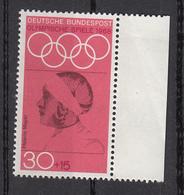 Germania 1968 Sc. B436 Helene Mayer Fencer Fioretto Argento Oimpiadi Berlino 1936 Nuovo MNH - Donne Celebri