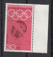 Germania 1968 Sc. B436 Helene Mayer Fencer Fioretto Argento Oimpiadi Berlino 1936 Nuovo MNH - Scherma