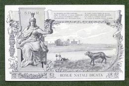 Cartolina Commemorativa - Roma - Romae Natali Dicata - 1912 - Non Classificati