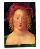 Carte Tableau Dürer Jeune Fille Cachet Saint Sur Carré Cordes - Peintures & Tableaux
