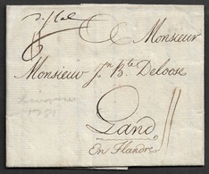 1781 LAC - LIVORNO A GAND, BELGIQUE - Italien