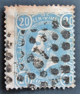 1870 Belgique Bel:BE 31,Yt:BE 31,Mi:BE 28Aa. King Leopold II . Belle Oblitération Gros Point GC 42 ? - 1869-1883 Léopold II