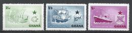 Ghana 1957. Scott #14-16 (M) Black Star Line Inauguration ** Complet Set - Ghana (1957-...)