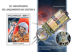 Mozambique. 2018 55th Anniversary Of The Launch Of Vostok 6. (504b) - Africa