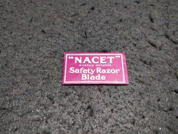 ANTIQUE RAZOR BLADE WRAPPER NACET SAFETY RAZOR BLADE + BLADE Nº1 MADE IN FRANCE - Razor Blades