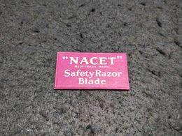 ANTIQUE RAZOR BLADE WRAPPER NACET SAFETY RAZOR BLADE + BLADE Nº2 MADE IN FRANCE - Razor Blades