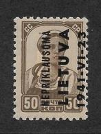 "Lithuania 1941 ""Nepriklausoma"" Occupation 50 Kop,Mi 7,Sol 7,VF Hinged* RN4 - Lithuania"