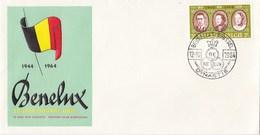 België/Nederland/Luxemburg - 3 FDC's - 20 Jaar Douane Unie BENELUX - Onbeschreven - Gezamelijke Uitgaven