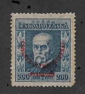 Czechoslovakia 1925,Tomáš Garrigue Masaryk Overprinted 200h,Scott # B139,VF MNH**OG (RN-4) V$200 - Czechoslovakia