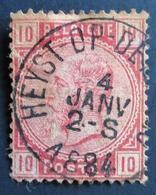 1869 Belgique Bel:BE 38,Mi:BE 35, Sn:BE 45, Yt:BE 38. King Leopold II. Oblitération HAYST-OP- ? - 1869-1883 Léopold II