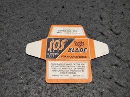 ANTIQUE RAZOR BLADE WRAPPER SOS SO SMOOTH MADE IN USA - Razor Blades