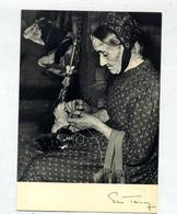 Carte Paysanne Trico Cachet Chamonix Sur Carré Roussillon Corot - Paysans