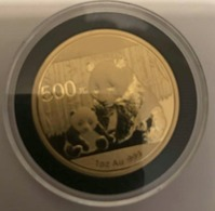 CHINA 2012 GOLD COIN 1 OZ BU PROOF ENCAPSULATED PANDA 14465-2 - Chine