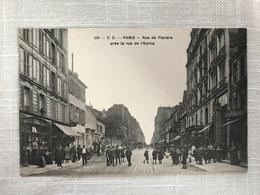 PARIS - Rue De Flandre Près De La Rue De L'Ourcq - Arrondissement: 19