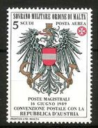 1989 AUSTRIA PA ORDINE DI MALTA   Serie Completa  Nuovi ** MNH - Malte (Ordre De)