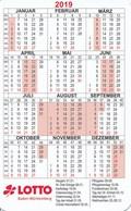 BRD Taschenkalender 2019 Lotto Baden-Württemberg Kleeblatt - Calendriers