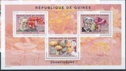 Guinée  Louis PASTEUR Albert SCHWEITZER Sir Alexandre FLEMING Mushrooms Champignons MNH - Louis Pasteur