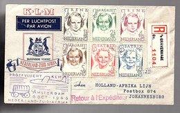 1947 Nederland-Zuid Africa KLM Flight Holland-Afrika Lijn(CM-63) - Brieven En Documenten