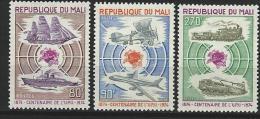 "Mali YT 218 à 220  "" Centenaire De L'U.P.U. "" 1974 Neuf** - Mali (1959-...)"