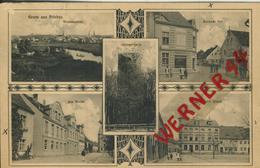 Priebus = Przewóz V. 1912 Totalansicht,Borauer Tor,Am Markt,Hotel Zum Goldenen Stern,Hungerturm  (50664) - Schlesien