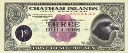 NewZealand ChathamIslands 3 $ 1999A (2000)  P-NL UNC - Nouvelle-Zélande