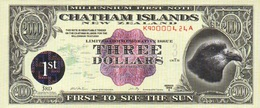 NewZealand ChathamIslands 3 $ 1999A (2000)  P-NL UNC - New Zealand