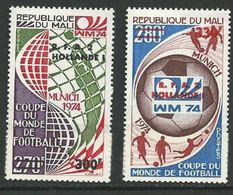 "Mali YT 221 & 222 "" Vainqueurs Football "" 1974 Neuf** - Mali (1959-...)"