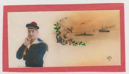 565 - LOT 2 MIGNONETTES . MARIN MATELOT BERET PONPON ANCRE BOUEE NAVIRES ONT CIRCULEES EN 1926 - Cartes Postales