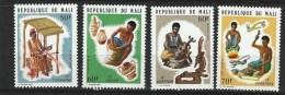 """Mali YT 227 à 230  """" Artisanat """" 1974 Neuf** - Mali (1959-...)"""
