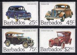BARBADOS - 1983 CLASSIC CARS SET (4V) FINE MNH ** SG 730-733 - Barbados (1966-...)