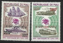 """Mali YT 231 & 232 """" UPU Surchargés """" 1974 Neuf** - Mali (1959-...)"""