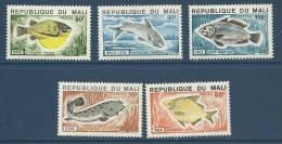 "Mali YT 236 à 240 "" Poissons "" 1975 Neuf** - Mali (1959-...)"