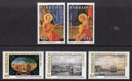 BARBADOS - 1983 CHRISTMAS NAVIDAD SET (5V) FINE MNH ** SG 737-741 - Barbades (1966-...)