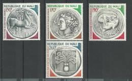"Mali YT 246 à 249 "" Monnaies Anciennes "" 1975 Neuf** - Mali (1959-...)"