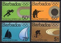 BARBADOS - 1984 LA OLYMPIC GAMES SET (4V) FINE MNH ** SG 745-748 - Barbados (1966-...)