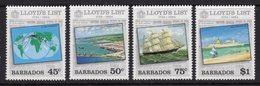 BARBADOS - 1984 LLOYDS LIST SET (4V) FINE MNH ** SG 750-753 - Barbados (1966-...)