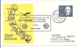 Eröffnungsflug LH640 Bangkok.Medelssohn Bartholdy 40Pf - BRD